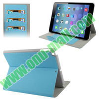 Factory Price Wallet Leather Cover for iPad 5 with Magnetic Closer and Holder