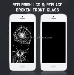 Refurbishing for iphone 6/6plus/5/5s/5c/4/4s front glass touch screen lcd panel Repair Service for broken lcd assembly digitizer