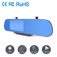 Slim Blue Glass Rearview Mirror Car Accident Recorder dvr