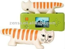 SuperHeadz Necono Cat Pet LED Light Digital Camera by Lisa Larson - White Orange