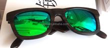 Classic pure natural wooden wayfarer sunglasses ,healthy and skincare eyewear