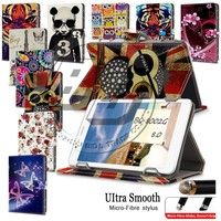 Brand New Printed Magnetic Stand Wallet PU Leather Flip Cover Case For BQ 8002G 8' Universal Tablet Case 8 inch