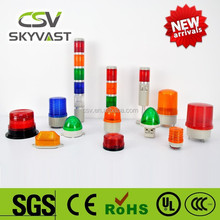 Manufacture warning light IP30 blue red yellow green 12 volt led lights motorcycles