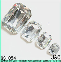 rectangle octagon shaped crystal decorative glass beads