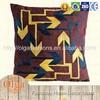 Geometric arrow head pattern cushion cover