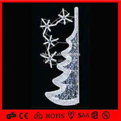 pole decorative lights led big white snowflake lights 2014