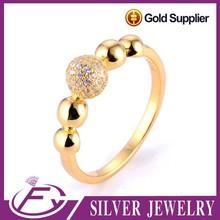 Zircón cúbico de piedra turca excelente 2 gramos plateado oro anillo
