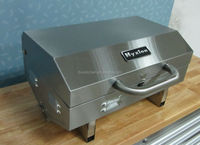 helmet shaped bbq grill with two knob and electronic pulse ignition -- HGG2011U