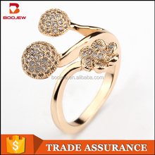 Unique products to sell latest adjustable size jewellery graceful design royal style 24 carat gold ring jewelry for women