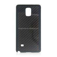 2015 China 100% Luxury custom real Carbon Fiber Back matte plastic Phone Cases for Samsung Note 4