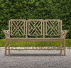 vintage outdoor patio wooden bench