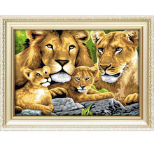 Lions design paint by number kits for wholesale 50*65cm