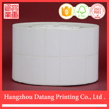 Various materials 50X25mm blank adhesive sticker label