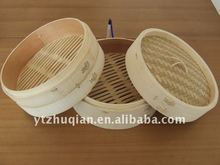 Chinese 3 Pieces Bamboo Steamer Cooker, Bamboo Basket 9-inch set