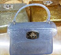 Brand Design Fashion Candy Color Jelly Bags Beach Silicone Women Messenger Transparent Handbag Cylinder Pillow Bag Shoulder Tote