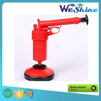 factory wholesale High quality Manual air powered plastic pump toilet plunger red color