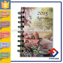 china manufacturer custom design foreign language agenda spiral notebook