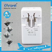Worldwide small gift items/hotel use/business,travel, home use with UK, EU, AUS,US plugs universal travel adaptor