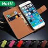 Real genuine wallet leather case mobile flip cover for iPhone 456 plus,for Samsung,for Sony,for LG,for Moto,for Nokia,for all
