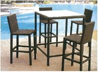 outdoor furniture cheap garden sets rattan coffee poker table