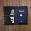 Travel Use genuine leather travel passport wallet passport cover for men bulk order wholesale