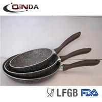 Forged aluminum granite stone coating fry pan