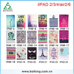 Sleep/Wake Flip Fold Patterned Leather Case Printed Smart Cover For iPad Air 2