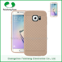 100% shockproof tpu clear view cover case for samsung galaxy s6 edge