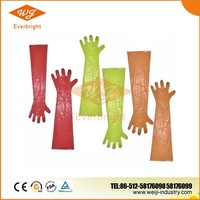 Eco-friendly Plastic Disposable Veterinary Long Sleeve Gloves, Shoulder Length