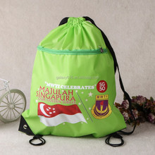 heat tranfer printing drawstring beach backpack shoes compartment bag