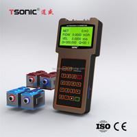 Clamp on ultrasonic handheld flow rate temperate sensor