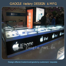 Customized mobile phone shop interior design with led lights