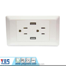 High quality american type usb wall socket 110V double usb outlet, Global usb wall socket