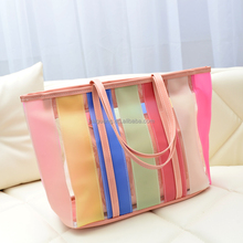 Women PVC Handbag Transparent Jelly Shoulder Bag