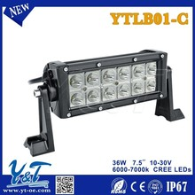 36W LED Work Light Bar 12V 24V IP67 Flood Or Spot beam 4WD 4x4 Off road driving Light TRUCK BOAT TRAIN BUS