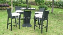 GN-8682D New Style Outdoor Wicker /Rattan Furniture Rattan Bar table Bar Set