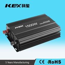 Hotsale car power inverter 1500watt dc 12v ac 220v battery reverse protection KEX-31500