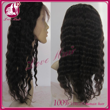 fast delivery unprocessed cheap natural brazilian deep curl human hair lace front wig with baby hair