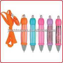 Promotional Logo pen lanyard/ hang neck pen
