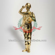 metal soldier figurine trophy with gun for souvenir gift
