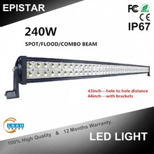 42inch 240W led work light bar spot flood combo beam offroad auto headlight for all cars 4X4 SUV ATV truck LED LIGHT BAR