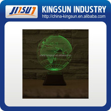 Customized shape LED 3d night light for promotion and gift