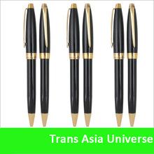 Top quality cheap custom black and gold metal ball pen