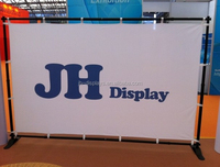 backdrop 10ft telescopic trade show adjustable banner stand