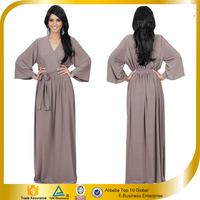 India Wholesale Clothing ladies long sleeve casual Maxi dresses pictures Designs