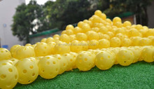 Lightweight Airflow Durable Whiffle Hollow Perforated Plastic Golf Practice Training Balls