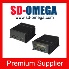 Selectable operating system fanless computer mini embedded PC low price