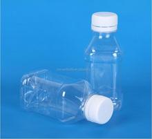 Hot sale 100ml/ 200ml/ 250ml /300ml /350ml 450ml PET mineral water bottle/ PET juice bottles