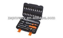 "46pcs 1/4"" car repair use socket set, hex wrenches,bit socket set"