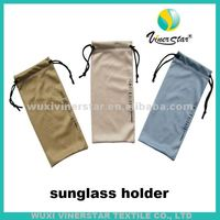 Microfiber custom design cleaning glasses holder, eyewear microfiber soft cleaning cloth bag